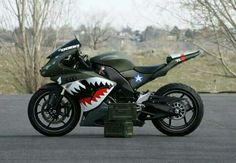 kawasaki ninja with one of the sickest paint jobs ive ever seen