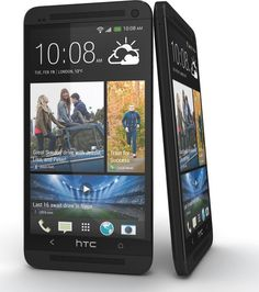 Black HTC One front and side angle