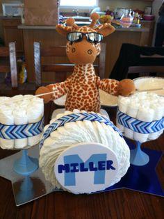 Baby Shower Cakes, Baby Shower Parties, Baby Shower Diapers, Baby Shower Fun, Baby Showers, Baby Shower Gifts, Baby Gifts, Pamper Cake, Diaper Cake Boy