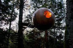 Free Spirit Spheres Colúmbia Britânica, Canadá - 12 dos hotéis mais peculiares do mundo