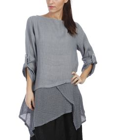 Wrap yourself in layers of luscious linen, with under layers made of an airy linen mesh for a free and easy feeling.Size note: This item runs in European sizing. Please refer to the size chart.   Shipping note: This item is shipping from Italy. Please allow extra time for its journey to you.