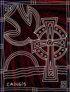 Caingis is the Celtic word for Pentecost Contemplative Prayer, Liturgical Seasons, Church Banners, Biblical Art, Prayer Flags, Episcopal Church, Cross Paintings, Celtic Designs, Sacred Art