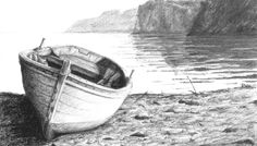 Pencil Drawing Techniques Discover how to render realistic seascape textures in this graphite drawing class by Phil Davies. Boat Drawing, Drawing Sketches, Painting & Drawing, Drawing Tips, Drawing Ideas, Landscape Pencil Drawings, Landscape Sketch, Pencil Drawing Tutorials, Pencil Sketching