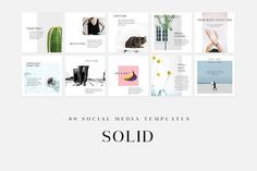 Solid - Social Media Templates by BRODUCTIVE on @creativemarket #socialmedia #socialmediamarketing #posts #instagram #design #creative #influencer #photoshop #stylish #modern #marketing #template #stories #fashion