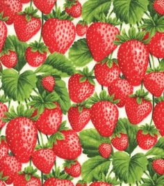 Shop fabric online by the yard. Jo-Ann's has the largest selection of fabric in unique prints and materials. Textures Patterns, Print Patterns, Strawberry Pictures, Strawberry Background, Watercolor Fruit, Cute Aprons, Novelty Fabric, High Art, Vintage Birds