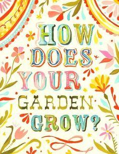 Wie Ihr Garten wachsen - vertikale drucken