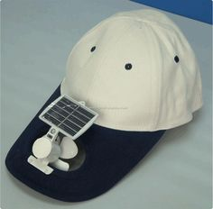 Solar Cap - would be cooler if they got the MLB involved :) New Inventions, Solar Power, Solar Products, Baseball Hats, Beanie, Cap, Creative, Google, Image
