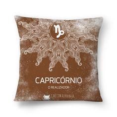 Capricórnio   O Realizador  #almofada #pillows #astrology #astrologia #zodiac #zodíaco #art #signos #decor #decoração #mandala #capricórnio #capricorn