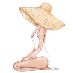 """""""Everything is fine when there is sunshine"""" 🌞🏖 . Watercolor Paintings For Beginners, Watercolor Art, Mode Poster, Summer Painting, Everything Is Fine, Fashion Wall Art, Art Drawings Sketches, Pictures To Paint, Cute Illustration"""