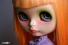 Custom commission for Blythe doll. via Etsy.