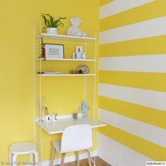 keltainen,keltainen seinä,keltainen sisustus,lastenhuone
