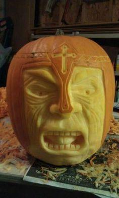 The Pumpkin Knight Food Carving, Pumpkin Carving, Knights Helmet, Food Art, Halloween, Wedding, Google Search, Decor, Valentines Day Weddings