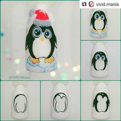 Xmas Nail Art, Xmas Nails, Christmas Nails, Winter Nails, Manicure, Nail Designs, Disney Characters, French, Nail Art