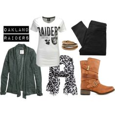 """Oakland Raiders Football"" by krista-lepore on Polyvore"