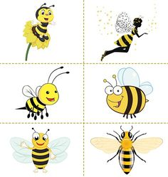Free Bumble Bee Cartoon Vector For Download About 3