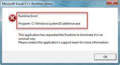 Atibtmon.exe Runtime error in Windows 10