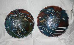 Raku koi pair by Kathleen Scott with Braemar Pottery