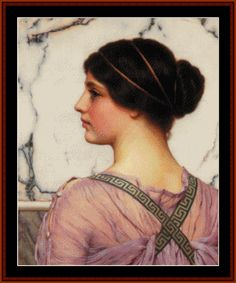 A Grecian Lovely, 1909 - Godward cross stitch pattern by Cross Stitch Collectibles