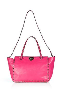 Pink leather studded Valentino bag