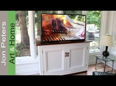 Hide your television when not in use by building this TVlift cabinet.