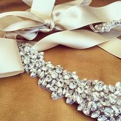 Rhinestone Swarovski Wedding Sash  ILLINIOS  by bigrockbridal