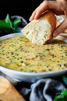 The Best Creamy Wild Rice Soup: an easy fall recipe to make for dinner. This hea… The Best Creamy Wild Rice Soup: an easy fall recipe to make for dinner. This hearty comfort food is filled with bacon, mushrooms, and… Continue Reading → Fall Dinner Recipes, Fall Recipes, Recipes With Wild Rice, Gourmet Dinner Recipes, Recipe For Wild Rice Soup, Recipes With Celery, Meal Ideas For Dinner, Vegetarian Recipes, Cooking Recipes