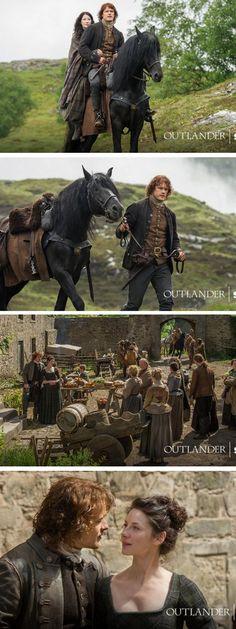 Stills from Outlander S1bE12 'Lallybroch' on Starz | Costume Designer TERRY DRESBACH www.terrydresbach.com