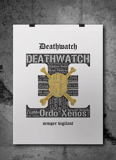 Deathwatch 2 Warhammer 40K Printable Poster by ZsaMoDesign