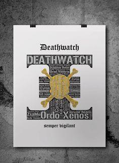 Deathwatch 2 Warhammer 40K Printable Poster by ZsaMoDesign