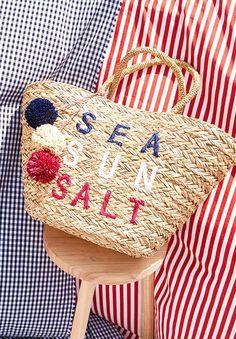 Sea Sun Salt Straw Tote
