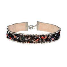Vintage Gemstone Rhinestone Chokers Red Blue Black Crystal Stone Choker  Necklaces Collar for Women Girls   58bc867daa0f