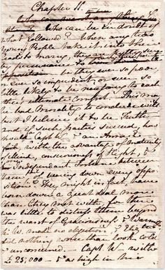 Original manuscript of Persuasion.