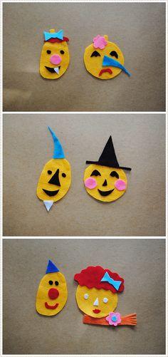 Felt Pumpkin Faces