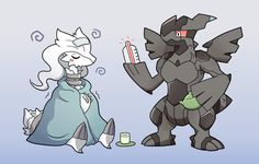"""Could it be a fever? Pokemon Comics, Pokemon Fan Art, Pokemon Noir, Pokemon Ships, Nintendo Pokemon, My Pokemon, Pokemon Stuff, Pokemon Fusion, Pokemon Images"