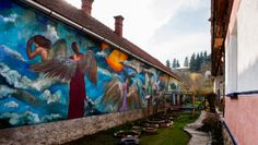 Wishes and dreams on the walls - Bodvalenke, the frescoe village of Hungary Bodvalenke is a tiny village in the north of Hungary, where almost all the inhabitants are Roma. Hungary, Budapest, Bugs, Painting, Beetles, Painting Art, Paintings, Insects