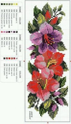 This Pin was discovered by Zik Cross Stitch Bookmarks, Simple Cross Stitch, Cross Stitch Rose, Modern Cross Stitch, Cross Stitch Flowers, Easy Cross Stitch Patterns, Cross Stitch Borders, Cross Stitch Designs, Cross Stitching