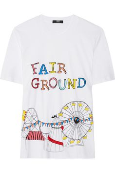 Markus Lupfer - Fairground sequined cotton T-shirt c1719e8c0eb9