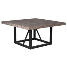 Kosas Home Mia Reclaimed Wood 60-inch Square Dining Table