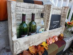 how to turn old stereo cabinet into television stand | DIY Pallet Wine Rack Instructions