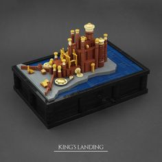 Located on the east coast of Westeros lays King's Landing, capital of the Seven Kingdoms Inspired by the Game of Thrones intro I built a series of clockwork micro scale castles from the TV series. List of all castles: - Winterfell - The Twins - Castle Black - King's Landing And a video of the functions. My series is almost over, but stay tuned for the great final on Sunday!