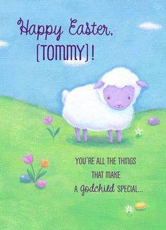 Little Lamb Easter Kid's Easter Card