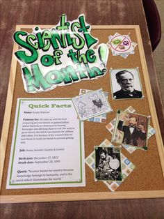 Scientist of the month in your science classroom