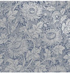 East Urban Home Vintage white flowers bloom against a sand colored background in this Scandinavian inspired wallpaper. Its floral design and shimmer finish lends to a pleasing design perfect for a country home. Blue Floral Wallpaper, Navy Wallpaper, Embossed Wallpaper, Wallpaper Online, Wallpaper Samples, Blue Wallpapers, Wallpaper Roll, Peel And Stick Wallpaper, Interior Wallpaper