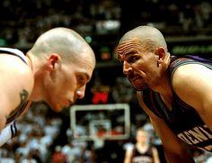 Williams and Kidd Jason Williams, Sacramento Kings, Phoenix Suns, Love And Basketball, American Sports, School Fun, Lebron James, Michael Jordan, Athlete