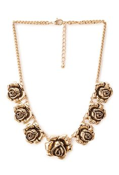Dark Rose Necklace | FOREVER21 #Accessories #Floral