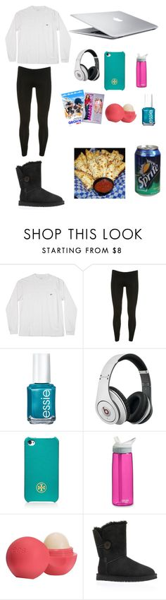 """Lazy day!"" by marleymellow ❤ liked on Polyvore featuring Topshop, Essie, Beats by Dr. Dre, Tory Burch, CamelBak, Eos, Grown and UGG Australia"