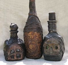 ChicComplement on Etsy (I love decorating bottles and this is wicked cool.)