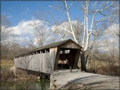 Switzer Bridge is off U.S. 460 in Franklin County on the north side of SR 1262.  #kentucky #covered bridge