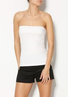 Jednofarebný top bez ramienok #ModinoSK #basic #top #fashion