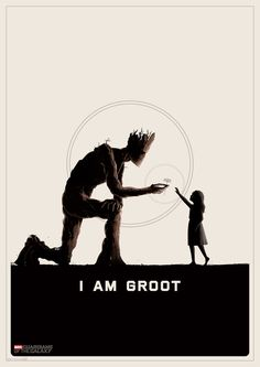 Guardians of the Galaxy illustrated poster Groot Guardians of the Galaxy B Roll Footage & Illustrated Posters